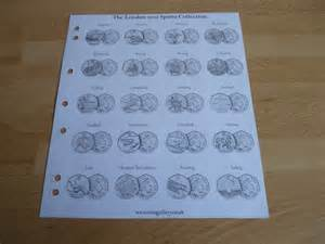 Olympic 50p collectors coin album pages