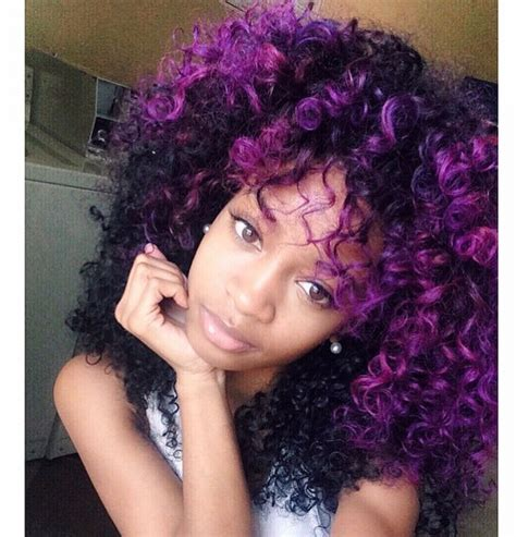 purple hair styles for black hair purple natural hair
