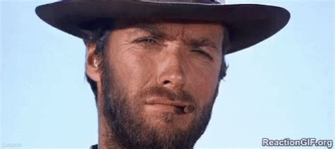 exactly gif head nod gif clinteastwood yes exactly gifs say more