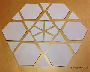 hexagon template for paper piecing fabadashery mini hexagon mug rug