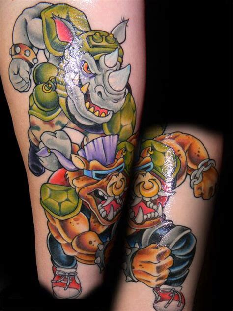 rocksteady tattoo tmnt bad guys tattoos tattoos and