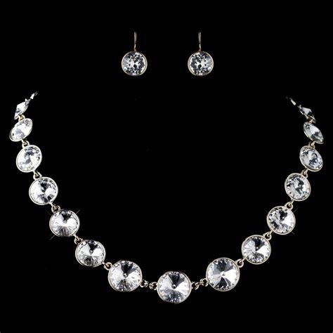 Swarovski Element Necklace gold clear swarovski element necklace 9607