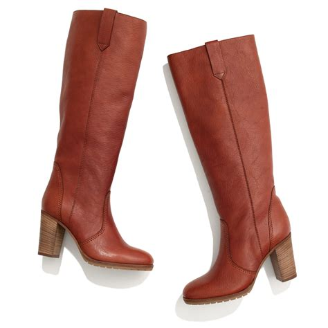 extended calf boots madewell the watchtower boot in extended calf in brown