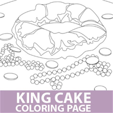 king cake coloring pages kingcake colouring pages page 2