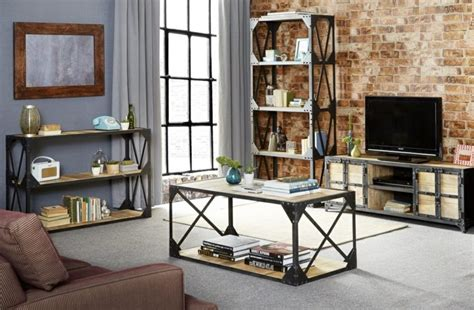 Livingroom Table Personnalisez Votre Salon Avec Le Meuble Tv Industriel