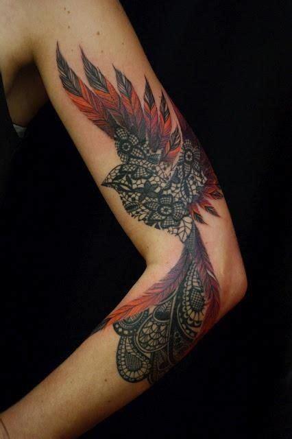 tattoo feather lace beautiful lace feather bird tattoo