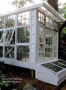 Greenhouse From Salvaged Windows Decor Dishfunctional Designs Window Of Opportunity