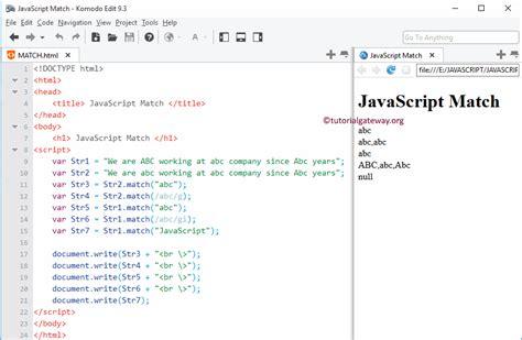 javascript pattern matcher javascript match function