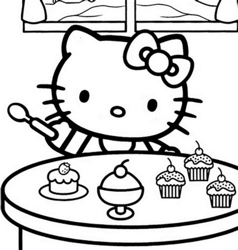 hello kitty with dolphin coloring pages hello kitty eating ice cream free coloring page hello