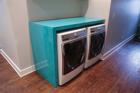 counter washer dryer custom teal laundry room counter washer and dryer