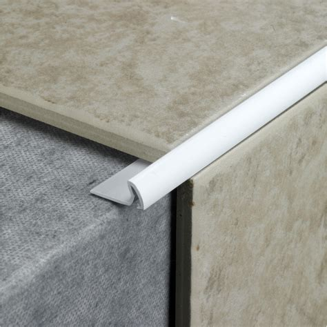7mm profile plus standard tile edging white leekes