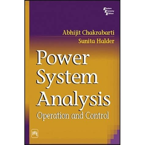 electric energy systems analysis and operation electric power engineering series books power system analysis operation and by