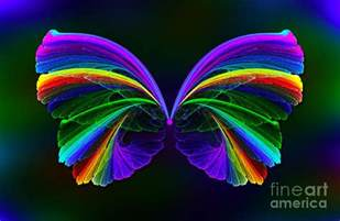 Duvet Cover Next Rainbow Butterfly Digital Art By Klara Acel