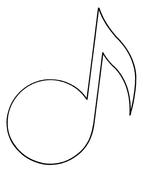 music note outline clipart best