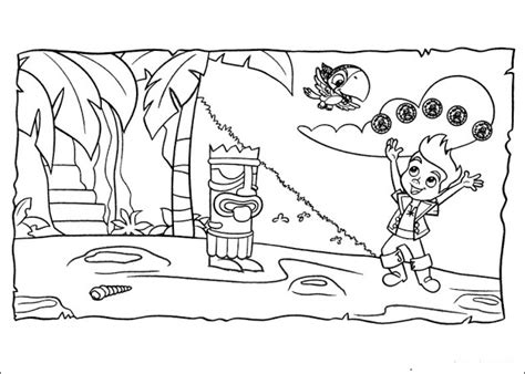 neverland map coloring page jake and the neverland pirates coloring pages