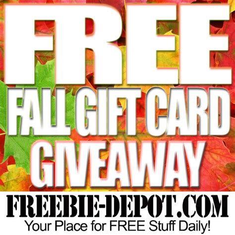 Free Gift Giveaway - free fall 50 amazon gift card giveaway ends 9 30 16 freebie depot