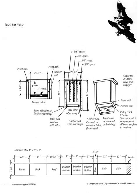 Bat Houses Plans Bat Box Building Plans Find House Plans