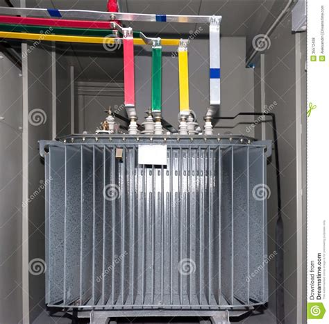 Blue Kitchen Canisters power transformer in the compartment royalty free stock