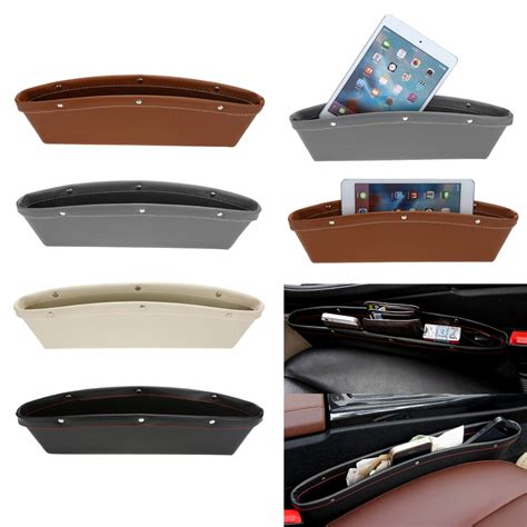Colorful Car Seat Pocket Organizer Catch Caddy Rak Sisipan Mobil pu leather catch catcher box caddy car seat slit gap pocket storage glove box organizer slot box
