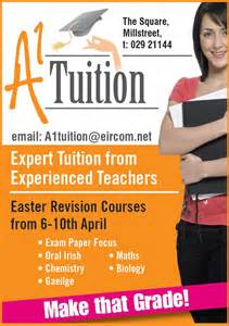 Home Tuition Board Design a1 tuition millstreet ie
