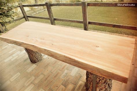 idee cuisine ext駻ieure table bois huile wraste com