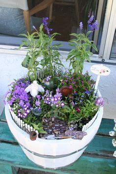 Wtb Purple Flower garden on fairies garden houses and miniature gardens