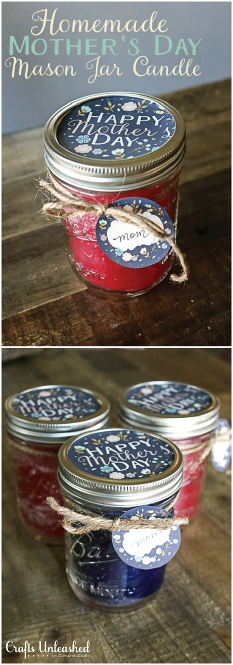 mothers day diy crafts diy candle jar s day gift crafts unleashed