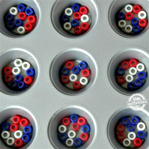 patriotic pony bead crafts bonbon
