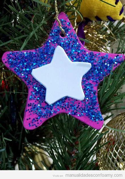 Estrella De Goma Eva Y Purpurina Para Decorar El Arbol De Navidad | estrella archivos manualidades con foamy