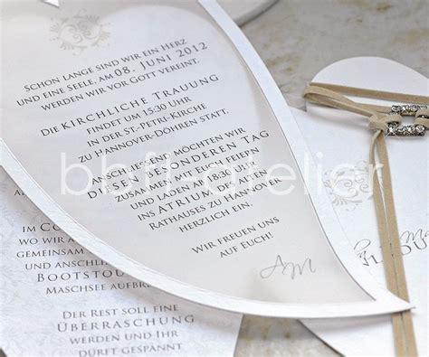 Hochzeitseinladung Transparentpapier by Einladungskarte Hochzeit Die Einfach Vom Herzen Kommt