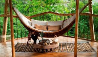 Sustainable bamboo tree house in bali home design and interior
