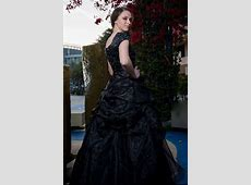 Odette Black Modest Prom Dress with Sleeves Gold Hematite Beads