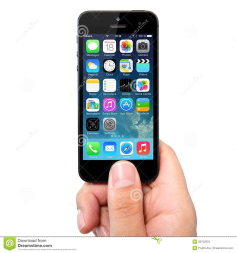 iphone operating system new operating system ios 7 screen on iphone 5 apple editorial image image 33703870