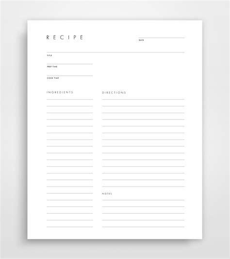 elr printable recipe journal blank recipe book blank recipe cards blank recipe binder