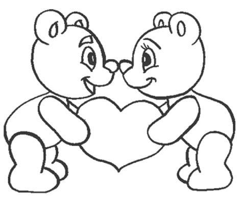 imagenes para colorear ositos ositos y corazon para dia de enamorado imagen para
