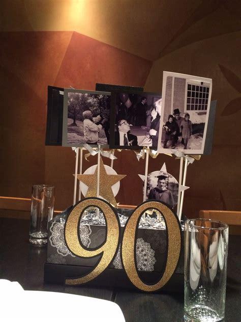 milestone birthday centerpiece crafts 90th