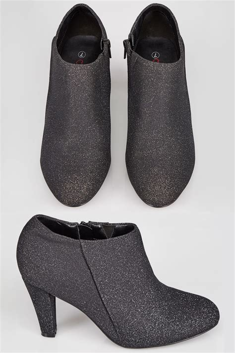 Check Balance Boots Gift Card - black shimmer shoe boots with flexi sole in true eee fit sizes 4eee to 10eee
