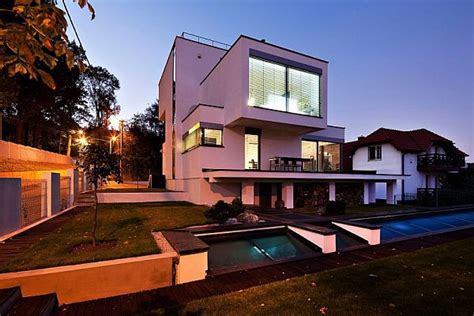 home design krak w geometrical shapes residence in poland