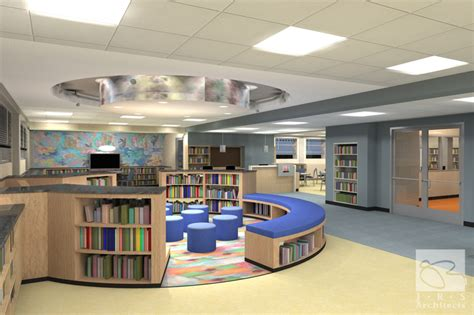 library interior design southwest baltimore charter school interior design rendering elementary school design