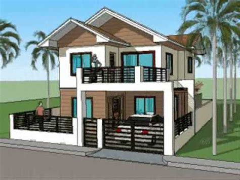 simple housing design simple house plan designs 2 level home youtube