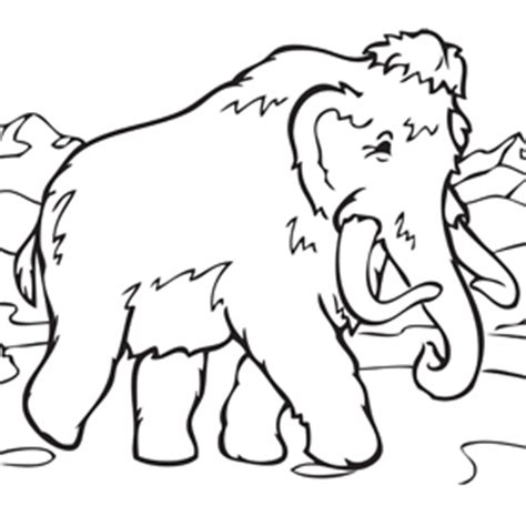 wooly mammoth pencil coloring pages