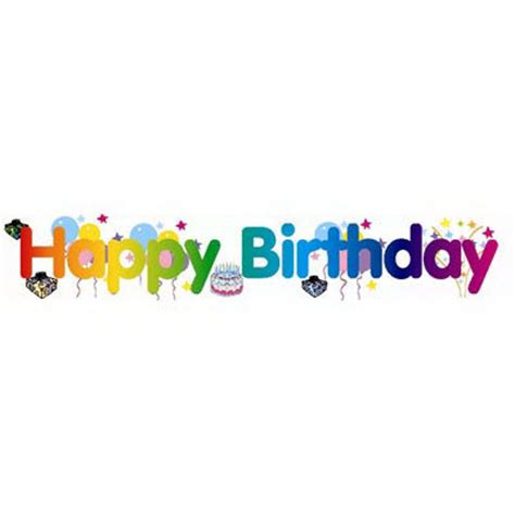 Banner Happy Birthday large happy birthday banner festive decoration for birthdays