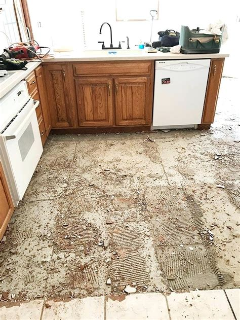 Replace Kitchen Tile Floor Without Removing Cabinets Replacing Kitchen Floor Without Removing Cabinets