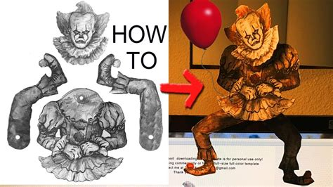 How To Make A Paper Clown - how to make new quot it quot pennywise the clown paper