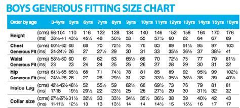 india boys shirt size chart  age slideshare