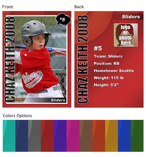 free sports card template baseball card templates free image search results