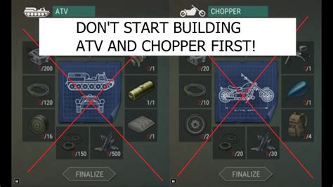 pattern chopper last day on earth don t build atv and chopper yet last day on earth