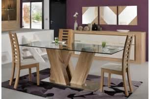 Bien Table Salle A Manger Chene Clair #3: ensemble-de-salle-a-manger-moderne-chene-clair-et-blanc-laque.jpg