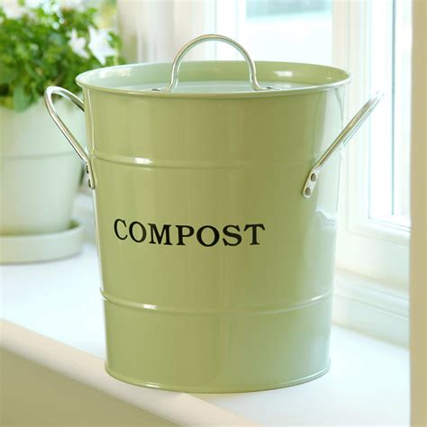 Compost Pail For Kitchen by 2 N 1 Apple Green Compost Kitchen Composters At Hayneedle