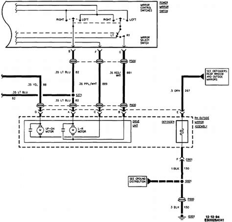Can You Supply Wiring Diagrams For Cadillac Side Mirror